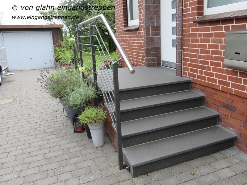 au entreppe treppenanlage im au enbereich aus granit und. Black Bedroom Furniture Sets. Home Design Ideas